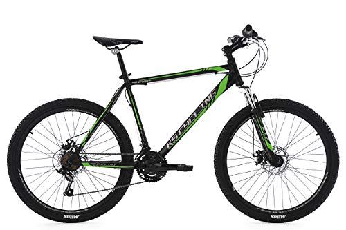 KS Cycling Mountainbike Hardtail MTB 26'' Sharp schwarz-grün RH 51 cm