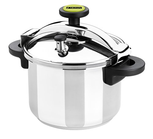 Monix Classica - Olla a presión tradicional de 4 litros, acero inoxidable, 22 cm, color gris