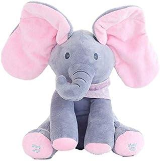 Elephant Animated Talking Singing Stuffed Plush Elephant Stuffed Doll Toys Kids Gift Present Boys & Girls Birthday Xmas Gift