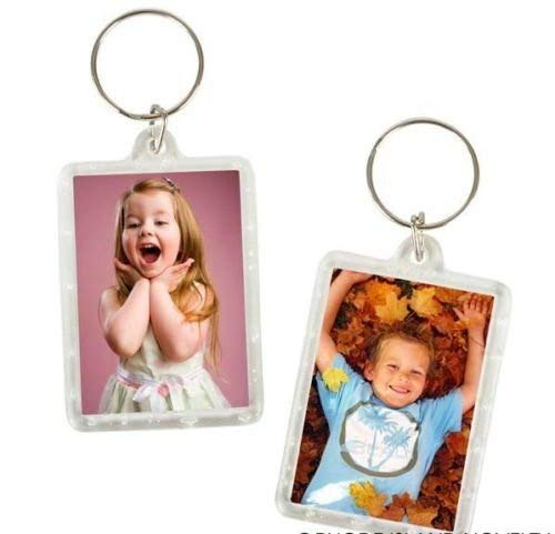 12 Photo Frame Keychains Party and Novelty
