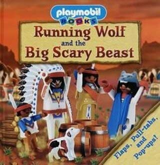 Running Wolf and the Big Scary Beast  Playmobil