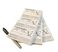 "Poultry冷凍庫ラベル4"" x 2""安全処理の手順と免税–p.l. 90–492 50 ホワイト"