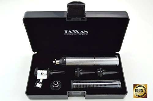 TAXXAN Otoscope ENT Diagnostic Set with Metal Adapter to USE Standard Disposable Speculum