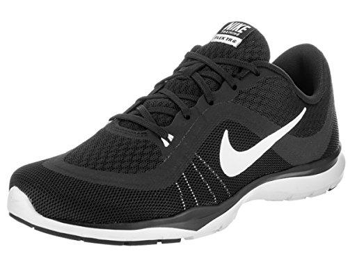 Nike Women's Flex Trainer 6 Black/White Ankle-High Mesh Walking Shoe - 7.5W