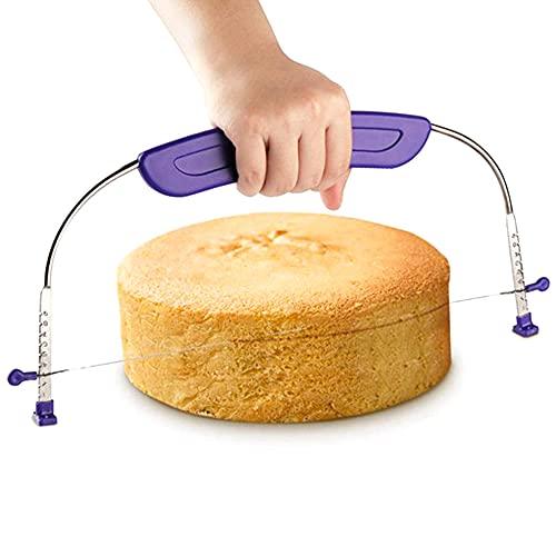 HUAGE Cortadora de Pastel Ajustable Cortadora de Pastel de Acero Inoxidable 10 Pulgadas