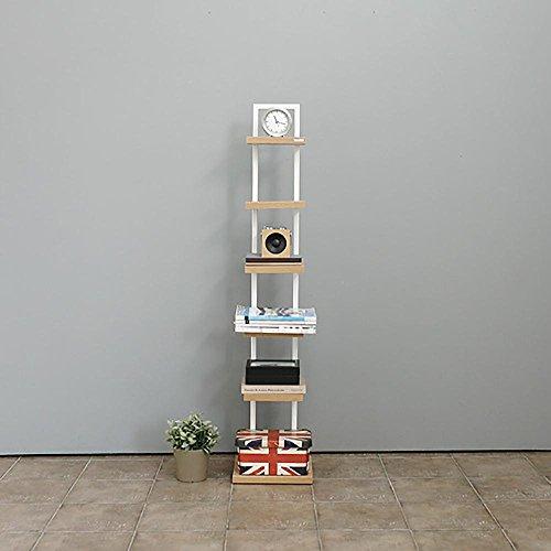 LLLXUHA Bois Massif Multi-Couche Support de Fleurs, Mode Simple Cloison étagère à Livres, Chambre Chevet Étagère, Blanc, 30 * 30 * 143cm