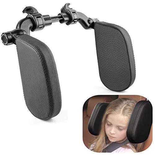 HZGAMER Car Neck Support Pillow, Road Pal Headrest, U Shaped Car Sleeping Pillow for Adults & Kids Passenger, Adjustable on Both Sides Car Seat Head Neck Support, Sleep Better on Long Trips (Black)
