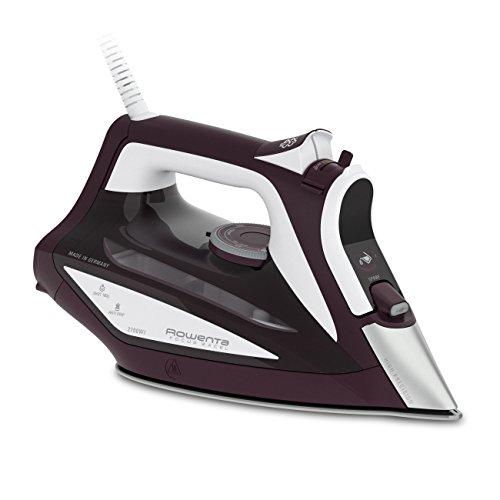 Rowenta Focus Excel DW5220 - Plancha de vapor, 1200 W, suela Microsteam 400, 1.9 m, 0.3 L, 180 g/min, burdeos/blanco