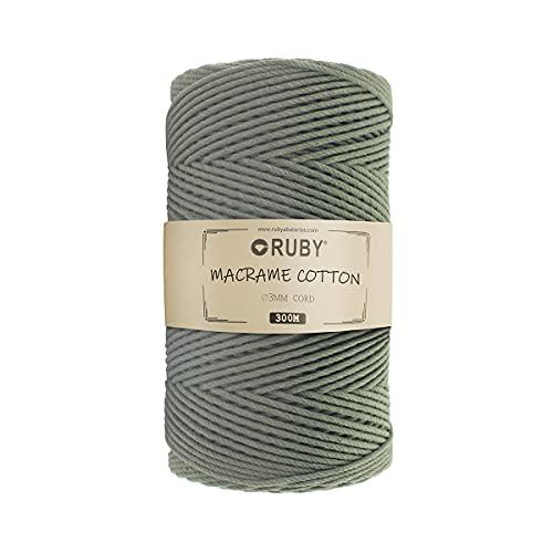 Cuerda de Algodón 5Mm Verde Marca RUBY
