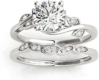 (0.15ct) Palladium Diamond Bridal Set Setting