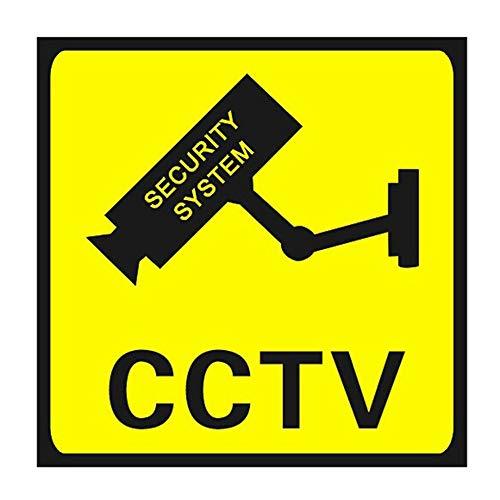 Cuadrado CCTV vigilancia seguridad 24 horas Monitores cámara advertencia pegatinas señal alerta pared etiqueta impermeable