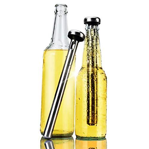 YJTT Creativa del Acero Inoxidable de Enfriador de Botellas Sticks Sticks Interior Cerveza Chiller for el enfriamiento rápido embotelladas Bebidas heladas física Un