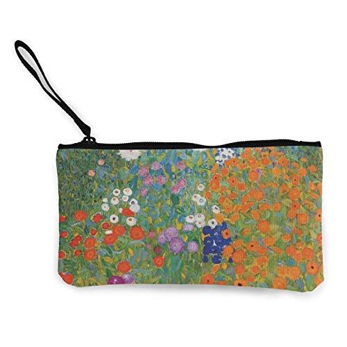 XCNGG Monederos Bolsa de Almacenamiento Shell Cottage Garden Canvas Coin Purse with Zipper Coin Wallet Multi-Function Small Purse Cosmetic Bags For Women Men