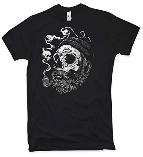 Camiseta de pirata con barba, negro, S -XXL.