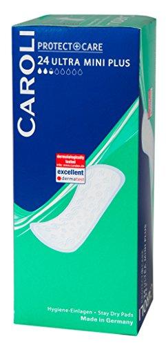 Caroli Protect + Care Hygiene-Einlagen Normal, Vorteilspack, Made in Germany (Ultra Mini Plus 10 x 24 Stück)
