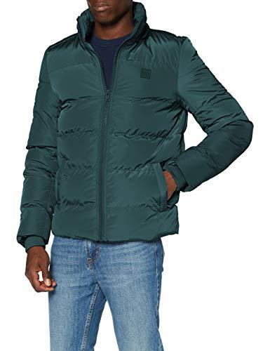 Urban Classics Herren Hooded Puffer Jacket Jacke, Bottlegreen, S