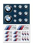 BMW - Juego de pegatinas originales con logotipo M