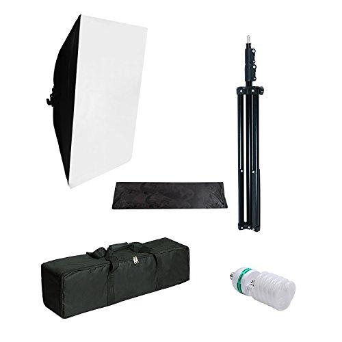 Julius Studio 20 x 28 inch. Softbox Lighting Kit, Soft Box Equipment with 800W Output Light Bulb for Portrait Photo, Video Photography Studio, JSAG379