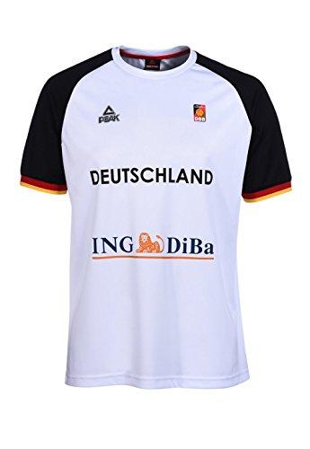 Peak Herren Shootingshirt der Deutschen Basketball Nationalmannschaft 2016 White, M