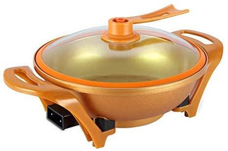 Pot Multi-Funktions-Elektro-Wok Gold Ingot Elektroherd Elektro Hot Pot Elektro Topf Haushalt Gedämpfter Reis Kochtopf Hellgelb