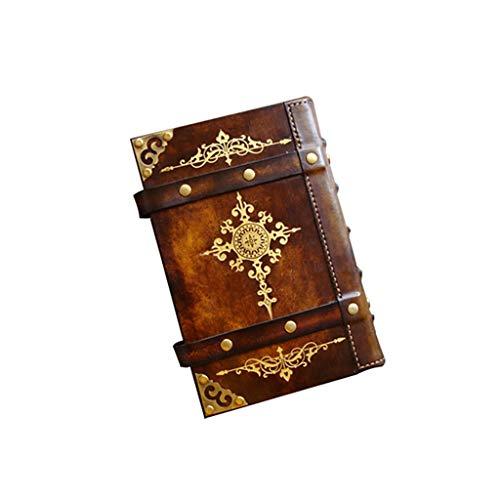 SFF Cuadernos de Oficina Libreta Cuaderno Regalos Cuaderno de Espiral clásica Recargable Escritura de la Vendimia Retro Cuadernos Diario de Relieve Sketchbook Cuaderno de Tapa Blanda (tamaño : A6)