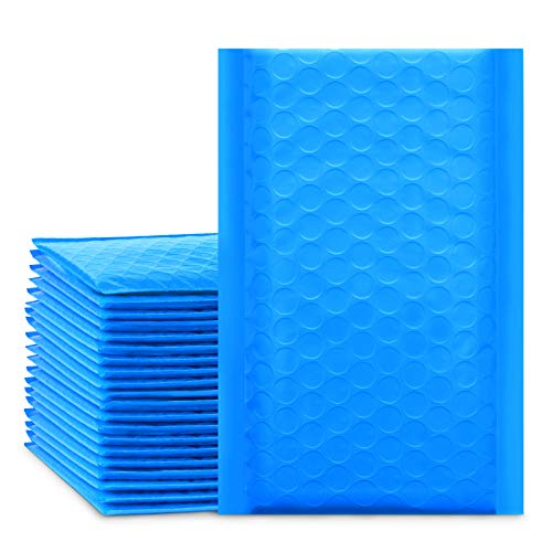 UCGOU Bubble Mailers 4x8 Inch Blue 50 Pack Poly Padded Envelopes Small Business Mailing Packages Opaque Self Seal Adhesive Waterproof Boutique Shipping Bags for Jewelry Makeup Supplies #000