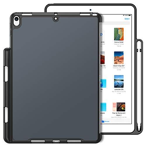 Fintie, hoes, compatibel met iPad Air 3 2019, iPad Pro 10,5 inch, ultradun Companion Back cover, beschermhoes met Apple Pencil houder voor iPad 10.5 inch 2019 Himmelgrau