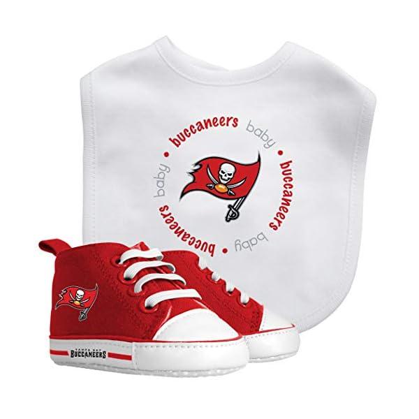 Baby Fanatic NFL Legacy Infant Gift Set, Tampa Bay Buccaneers, 2Piece Set (Bib & PRE-Walkers)