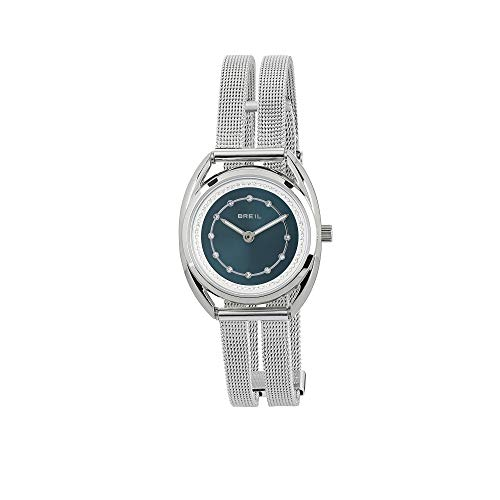 Breil Damen Analog Quarz Uhr mit Edelstahl Armband TW1802