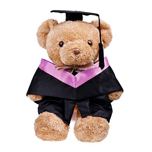 PRETYZOOM 2 Piezas Muñeca Graduación Gorra Vestido Oso de Peluche Ropa Diploma Encantador Animales de Peluche Traje Vestido para 2020 Graduado Juego de Imaginación Juguete Púrpura 12 Pulgadas
