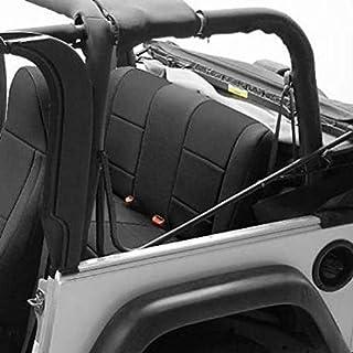 Coverking SPC260 Custom Fit Seat Cover for Jeep Wrangler JK 4-Door - (Neoprene, Solid Black)