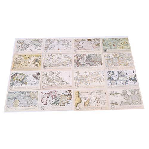 Garispace 30 Blätter/Set Die Weltkarte Postkarte/Grußkarte/Mitteilungskarte, beste Geschenke für Weihnachten und Neujahr(30PCS)