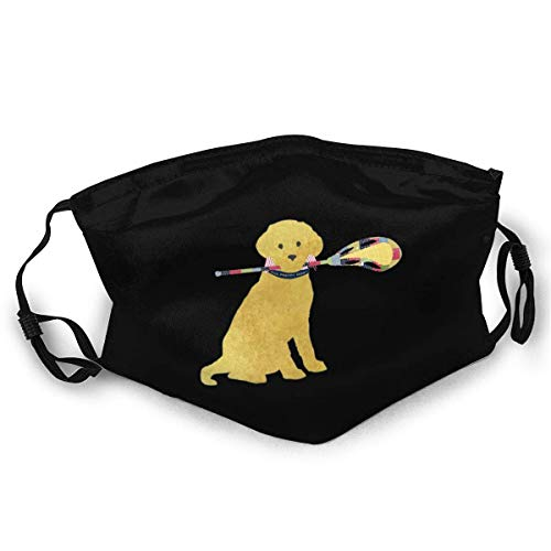 N / A Face Mouth Scarf,Golden Retriever Lacrosse Dog Usa Mundschutz, Attraktiver Mundschutz Bei Pollenallergie,20x15cm