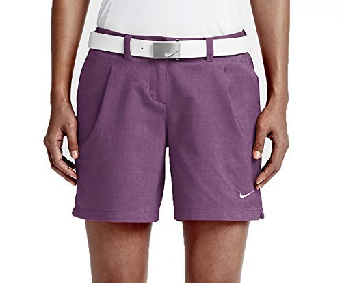 Nike Golf Women's Oxford Shorts, Cosmic Purple/White, 10 X 6
