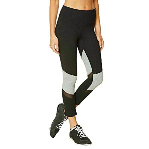 Pantalon de fitness Femmes, Toamen Faire des exercices Pantalon de yoga Pantalons de course Élastique Leggings Pantalons Gym Aptitude Yoga des Sports (XL, Noir)