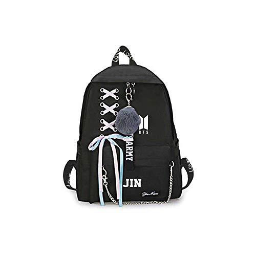 Unisex BTS Backpack Mochila Bangtan Bolsas de Escuela Impresas para niños Niñas Korean Combination BTS Camping Hiking Mochila BTS computadora portátil