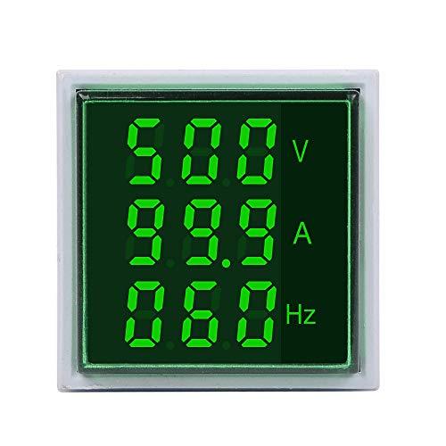 U – 5 stuks 3 in 1 AC 60 – 500 V 100 A vierkante LED groene digitale voltmeter ampèremeter hartslagmeter alarmlampen spanning stroomfrequentie combo teller tester rond CT