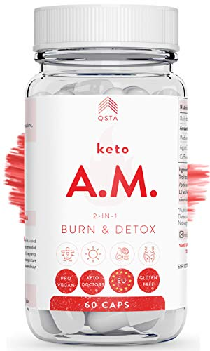 Keto Plus Original AM (45 DIAS) - Quemagrasas potente para adelgazar y rapido, Quema grasas & Detox,...