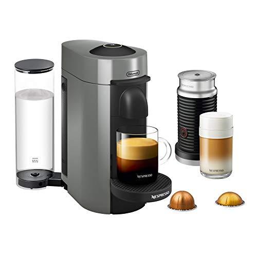 Nespresso VertuoPlus Coffee and Espresso Maker by DeLonghi with Aeroccino, Grey (Renewed)