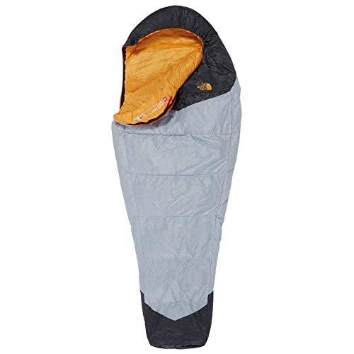 North Face Gold Kazoo Lange Slaapzak Links Handed High Rise Grijs Radiant Geel