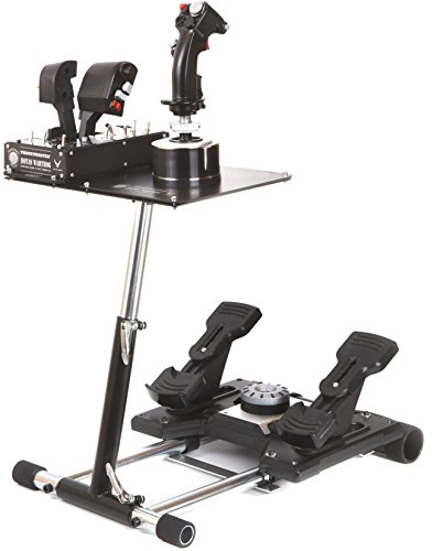 Aerosoft Universalhalterung Wheel Stand Pro für Thrustmaster HOTAS WARTHOG und Saitek X-55, X52/Pro - Deluxe V2