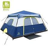 QOMOTOP Camping Tent, 8 Person Instant Set Up...