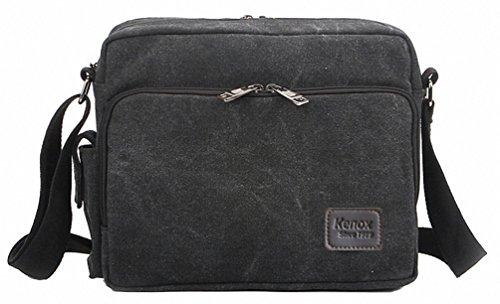 Kenox Classic Multifunctional Mens Canvas Messenger Bag Crossbody Working Field Bag