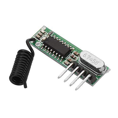 SHANG-JUN Fácil de Montar DC3~5V AK-119 433.92MHZ 4 Pin superheterodino Junta Receptor sin decodificar -105dBm Sensibilidad 5pcs Conveniente