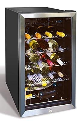Husky HUS-HM39-HN Wine Cooler, 91 Litre, Black from Husky Wine Fridge