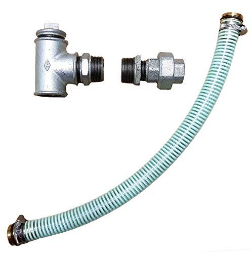 Anschluß Set für eine Elektropumpe_-=-_ um z.B ein Hauswasserwerk Hauswasserautomat an einen Brunnen Zisterne Regentonne zur Garten Bewässerung anzuschließen