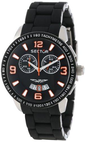 Sector Herren-Armbanduhr XL 400 Chronograph Edelstahl beschichtet R3273619001