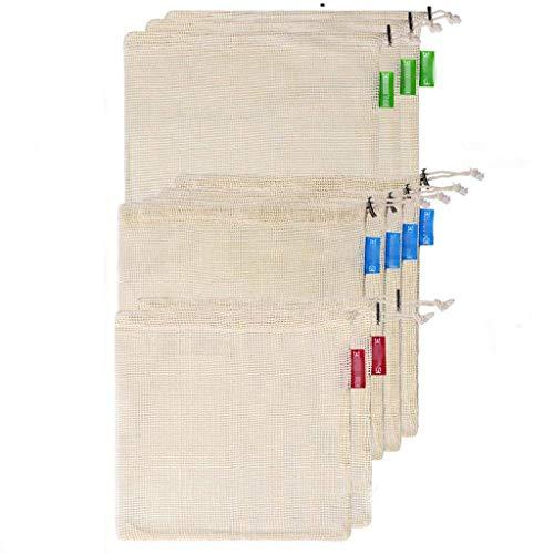 FBGood - Bolsas Reutilizables de Malla para el Medio Ambiente, Lavables y...