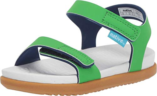 Native Kids Shoes Charley (Toddler/Little Kid) Grasshopper Green/Shell White/Toffee Brown 4 Toddler M