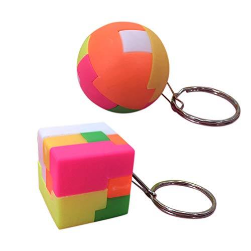 Ailyoo Le Football créatif carré Cube Porte-clés Toy Puzzle Jeu Jouets éducatifs pour Les Enfants